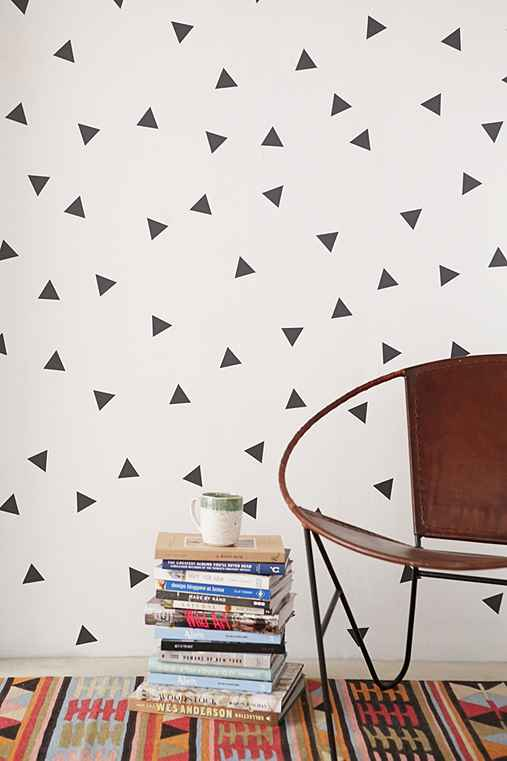 Walls Need Love Triangle Decal Set,DARK GREY,ONE SIZE