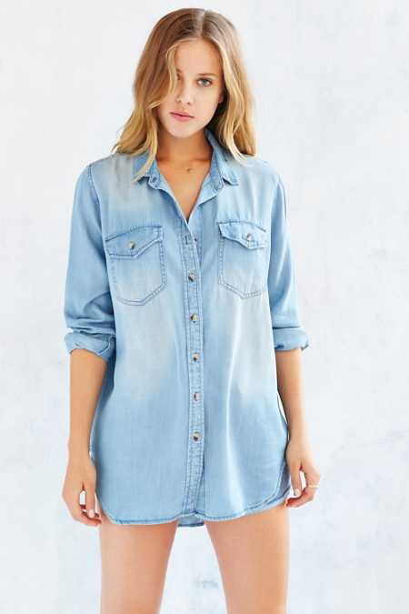 BDG Drapey Chambray Button-Down Shirt