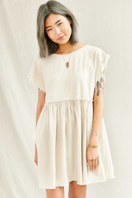 Urban Renewal Remade Raw Edge Linen Babydoll Dress