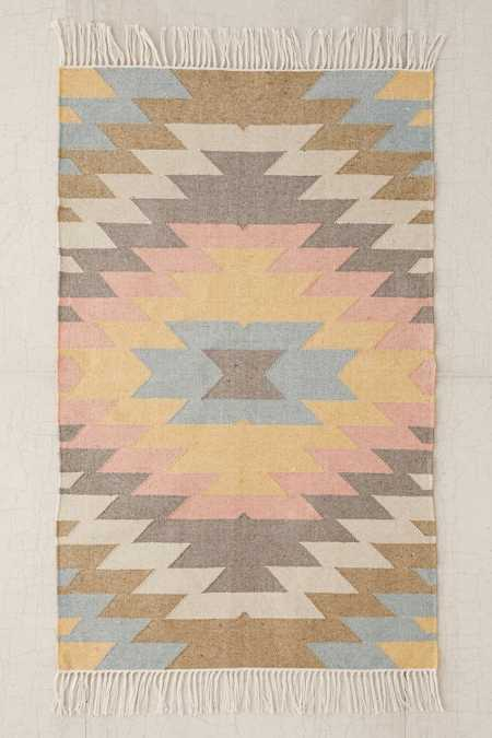 Faded Kilim Indoor/Outdoor Woven Rug
