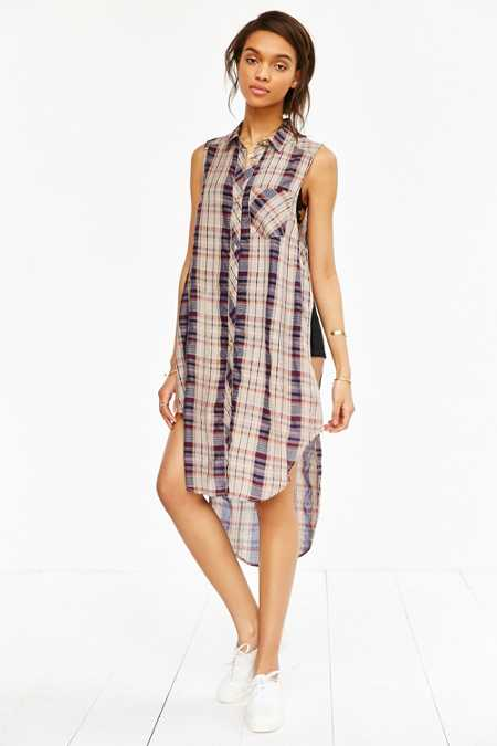 BDG Paloma Maxi Button-Down Tank Top