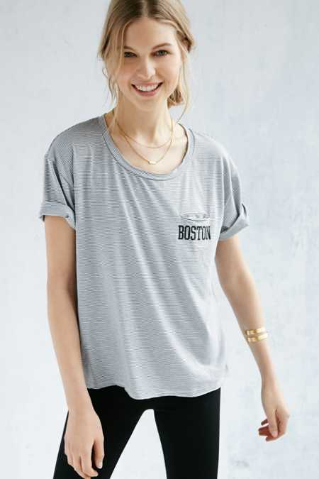 BDG State Lines Striped Pocket Tee