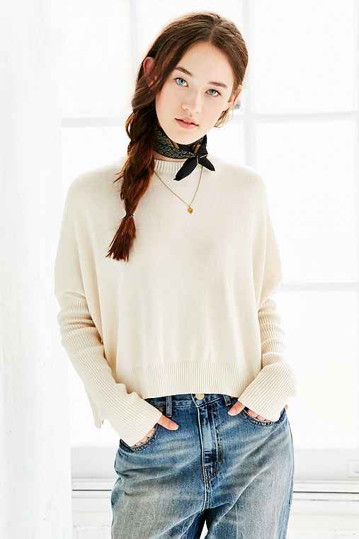 Silence + Noise Shiloh Sweater,IVORY,XS