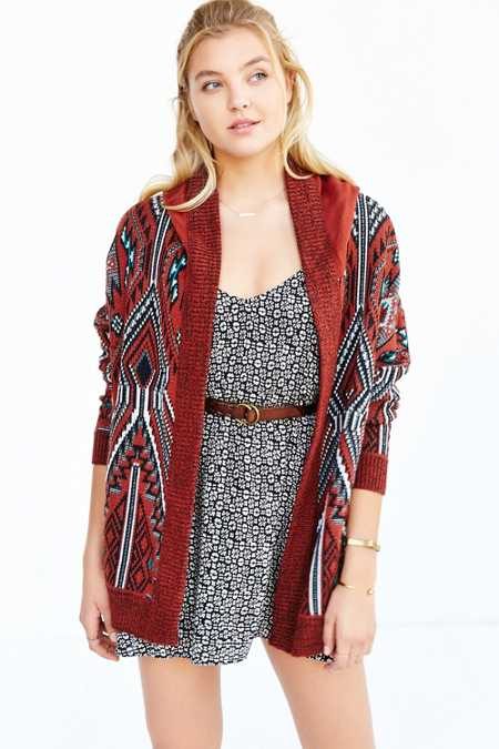 Ecote Arianna Patterned Cardigan
