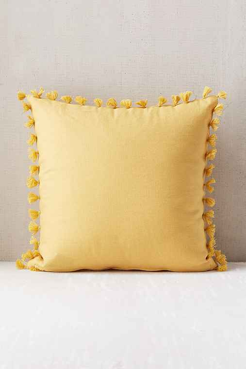 Magical Thinking Avery Tassel Pillow,YELLOW,ONE SIZE