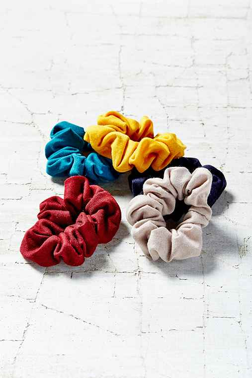 Days Of The Week Scrunchie Set,BLACK,ONE SIZE