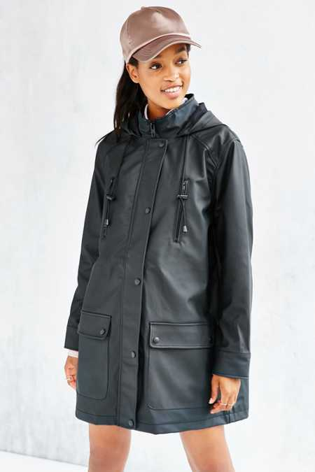 Silence + Noise Four-Pocket Rain Coat