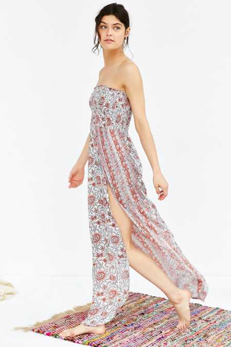 Out From Under Ruched Tube Cover-Up Maxi Dress