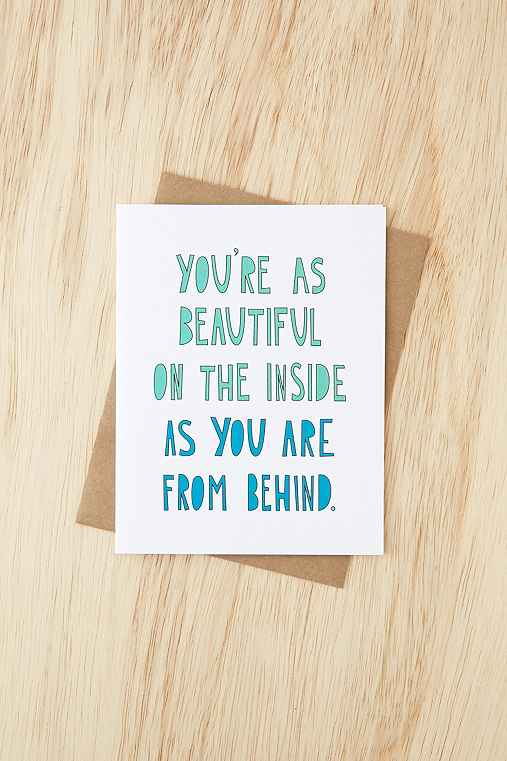 Near Modern Disaster Beautiful Behind Card,WHITE,ONE SIZE