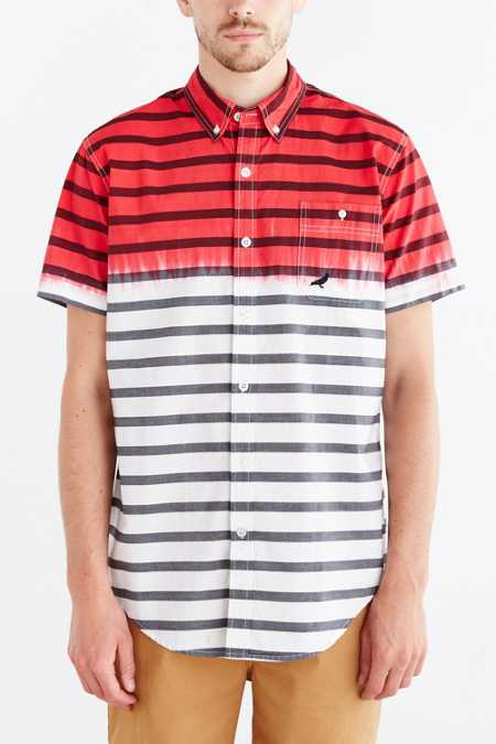 Staple Finish Stripe Woven Button-Down Shirt