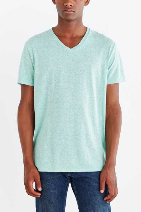 BDG Feeder Stripe Standard-Fit V-Neck Tee