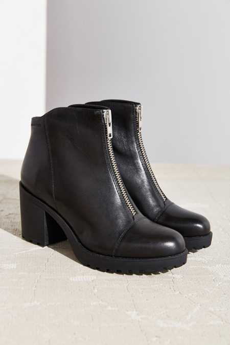 Vagabond Front Zip Grace Ankle Boot