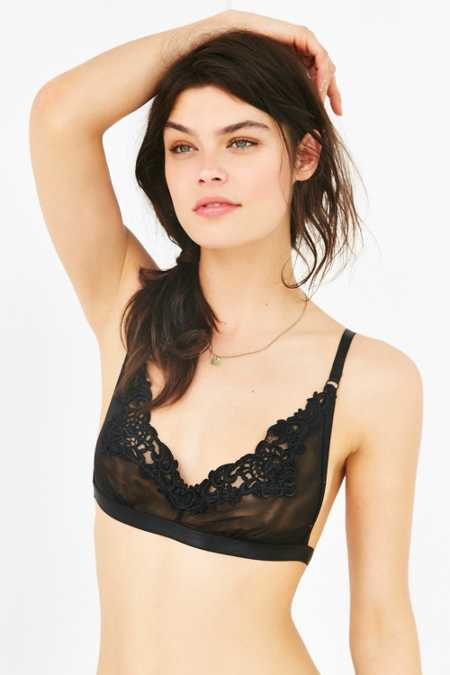Out From Under Gemma Applique Mesh Bra