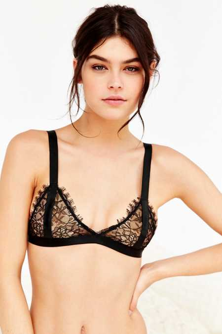 Out From Under Thick Strap Eyelash Lace Bra