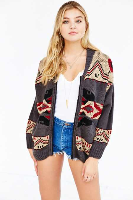 OBEY Adri Zip-Front Sweater