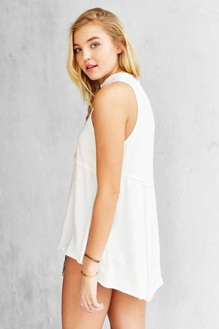 Truly Madly Deeply Mock-Neck Babydoll Tank Top