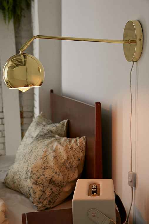 Long Neck Gumball Sconce,GOLD,ONE SIZE