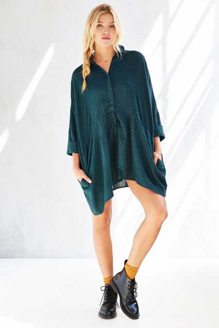 BDG Modern Drawstring Shirt Dress