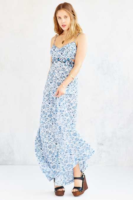 Ecote Shipwreck Cutout Maxi Dress