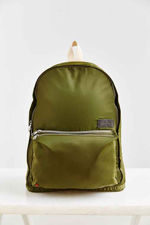 STATE Bags Lorimer Nylon Tri Backpack,GREEN,ONE SIZE
