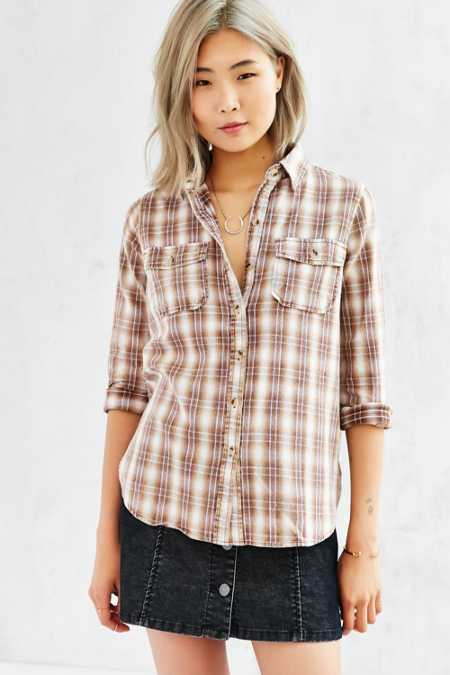 BDG Washed Out Button-Down Shirt