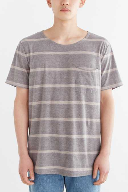 BDG Control Stripe Wide Neck Standard-Fit Pocket Tee