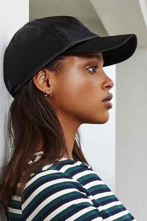 Satin Baseball Hat,BLACK,ONE SIZE
