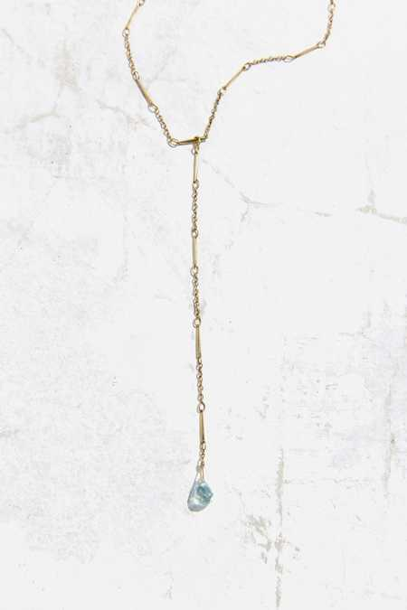Delicate Crystal Lariat Necklace