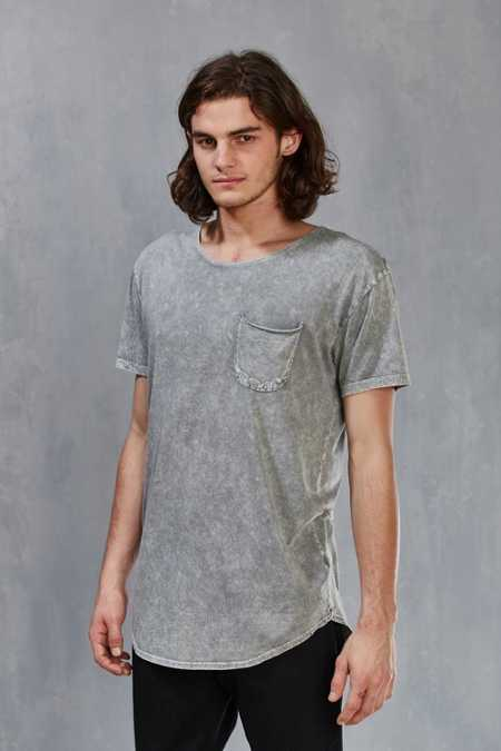 Feathers Mineralized Long Scoopneck Tee