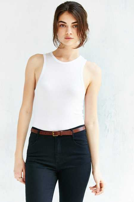 BDG Thin Square Buckle Belt