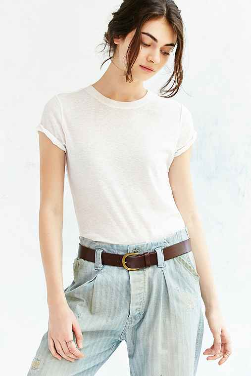 BDG Everyday Leather Belt,BROWN,L