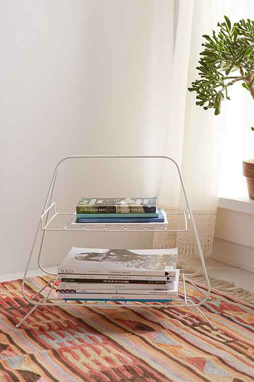 Mid-Century Wire Caddy, WHITE, ONE SIZE""