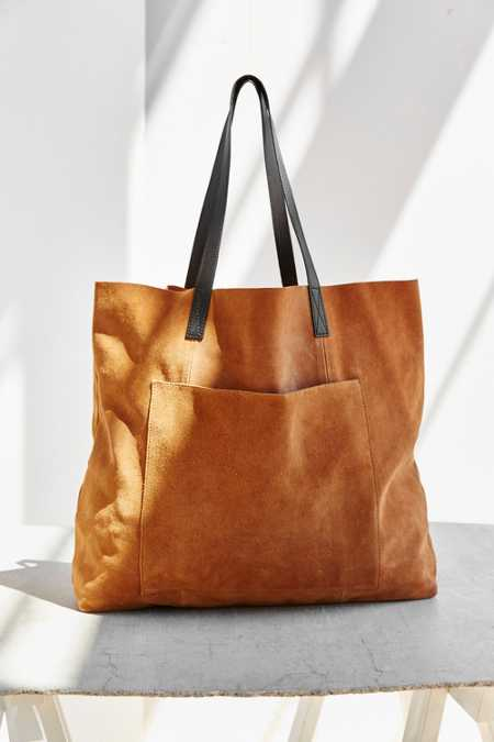BDG Suede Pocket Tote Bag