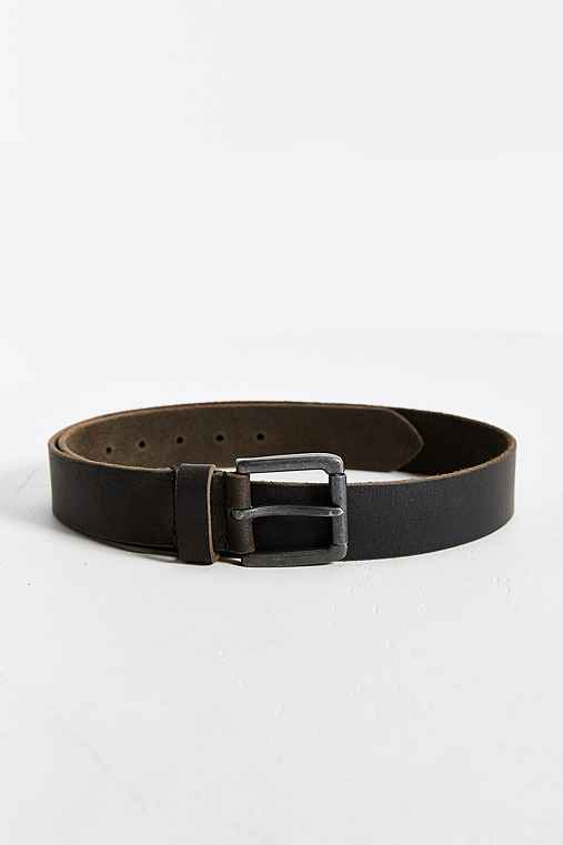 Black Leather Belt,BLACK,L