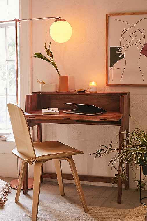Mid-Century Fold Out Desk,BROWN,ONE SIZE