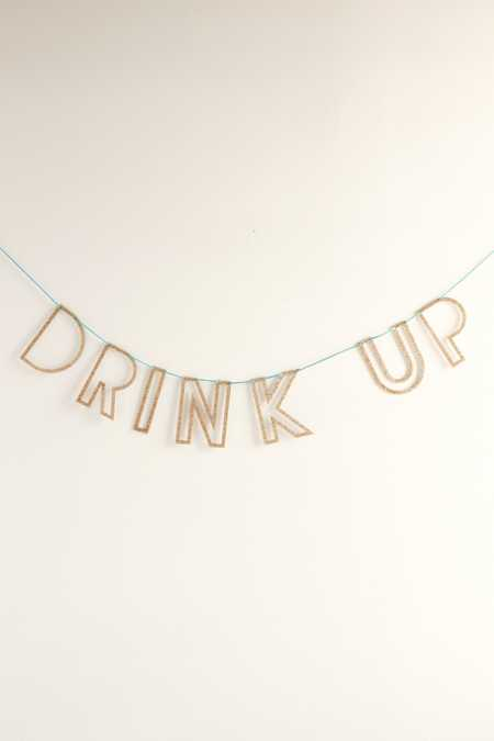 Drink Up Acrylic Banner DIY Kit
