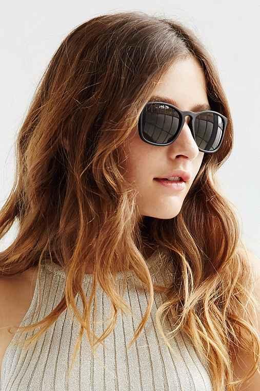 Boyfriend Slim Square Sunglasses,MATTE BLACK,ONE SIZE