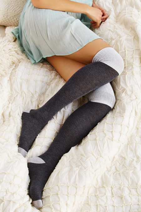 Ribbed Cuff Over-The-Knee Sock