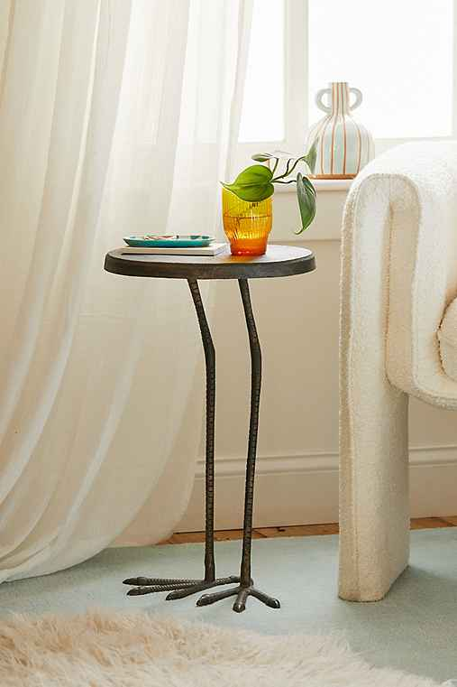 Birdy Side Table,GOLD,ONE SIZE