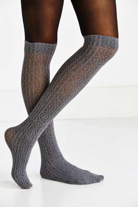 Faux Sock Over-The-Knee Tight