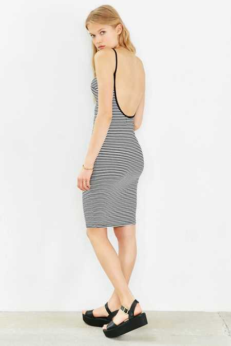 Madison Square Striped Midi Dress