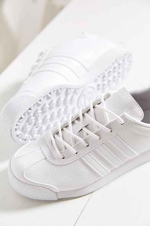 adidas Originials Samoa Perforated Mono Sneaker,WHITE,6