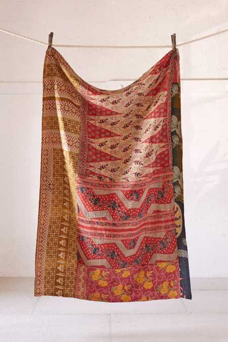One-Of-A-Kind Kantha Throw Blanket