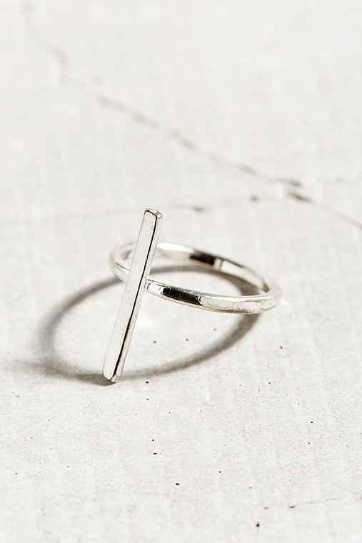 Christine Single Bar Layering Ring,SILVER SINGLE BAR,8