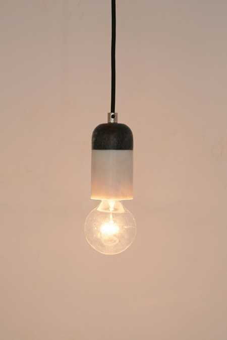 Mixed Marble Pendant Light
