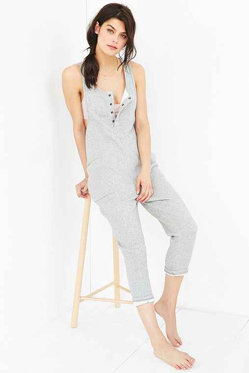 Out From Under Terry Romper,GREY,M