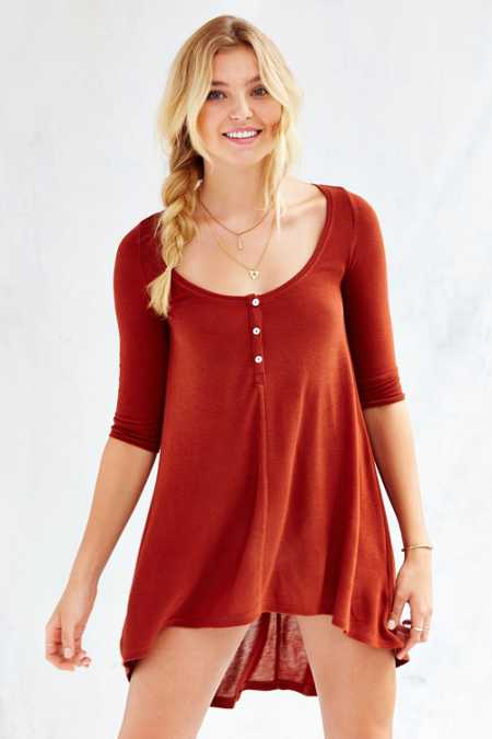 Ecote Hummingbird Henley Top