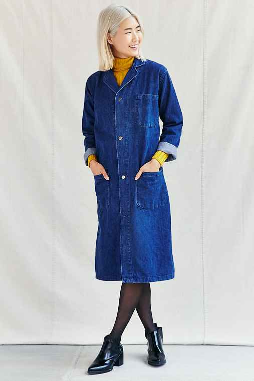 Urban Renewal Remade Denim Maxi Coat,INDIGO,L