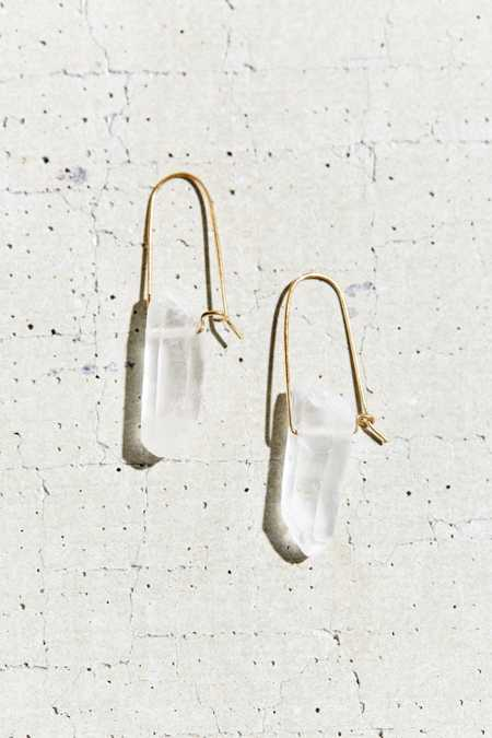 Tiny Armour Crystal Arc Earring