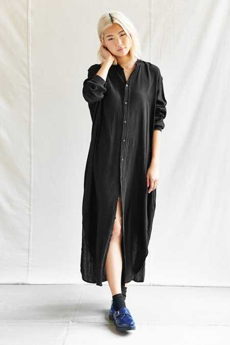 Urban Renewal Remade Button Front Maxi Dress